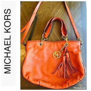 Michael Kors Orange Leather Satchel